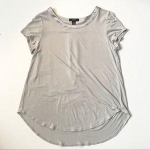 Alfani satin trim high-low t-shirt